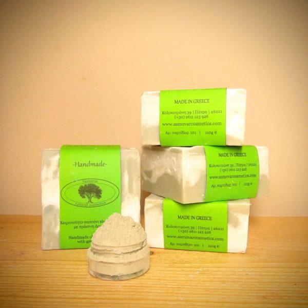 Σαπούνι κατά της λιπαρότητας με πράσινη άργιλο