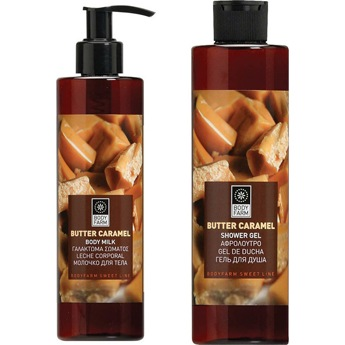 body milk shower gel butter caramel