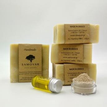 Σαπούνι για λούσιμο και ξύρισμα με καστορέλαιο και σανδαλόξυλο